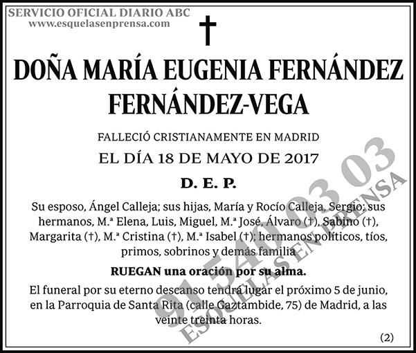 María Eugenia Fernández Fernández-Vega